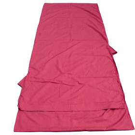 Basic Nature Mixed Sleeping Bag Liner Blanket Shape, bordeaux
